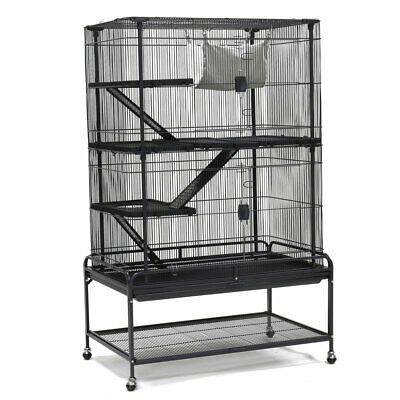 Large Ferret Cage 4 Lever Chinchilla Rabbit Hamster Rat House Guinea Pig W Stand