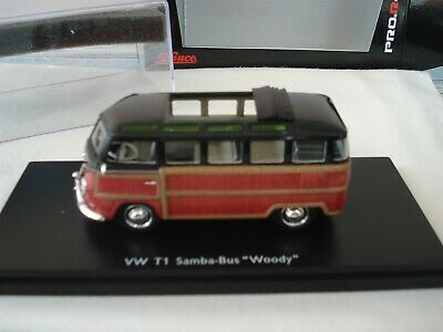 """Schuco 1:43 VW T1 Samba """"Woody""""  by RACEFACE-MODELCARS"""