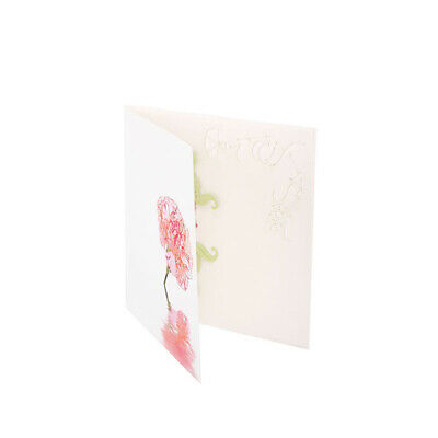 Flowers Hollow Birthday Invitation Cards Wish Messages Festival Greeting Card BS