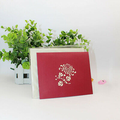 Stereo Origami Shape Birthday Invitation Cards Messages Wedding Greeting Card BS