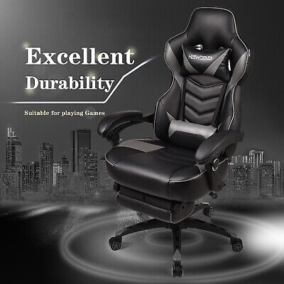 Executive Racing Gaming Computer Office Chair Adjustable Swivel Recliner Seat UK