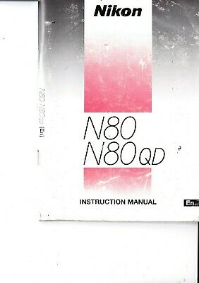 Genuine Original Nikon Camera Manual N80 N80Qd