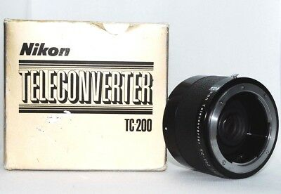 【 NEAR MINT 】 NIKON TC 200 Teleconverter 2X Lens Boxed From Japan
