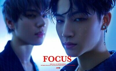 GOT 7 JUS2: Focus Mini Album* Full Package+Poster (CD, JYP) K-POP New Sealed