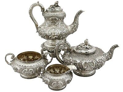 Antique George IV Sterling Silver Four Piece Tea and Coffee Service 1827