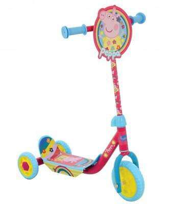 Peppa Pig Tri Scooter Kids Girls Outdoor Push Scooter 3 Wheel Childs RideOn PINK