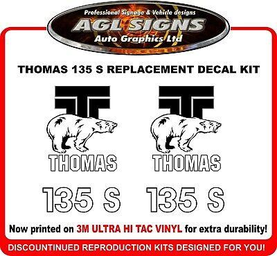 Thomas Skid Steer 135 S  Reproduction Decals  1 pair   graphics