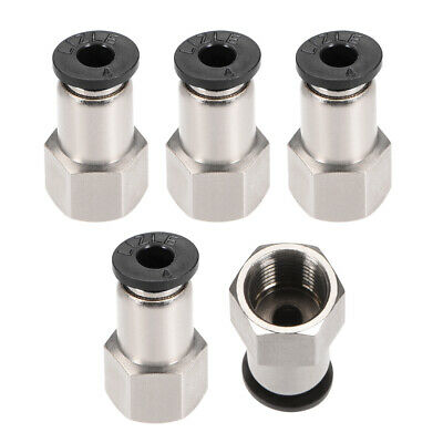 "Push to Connect Tube Fitting Adapter 4mm OD x G1/8"" Female 5pcs"