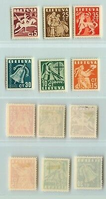 Lithuania  1940  SC  317  322  mint. d9665