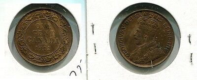 Canada Large Cent 1912 Coin Bu 7838G