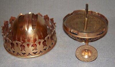 Two Parts for THE GRAND Oil Lamp Burner, Bottom or Top