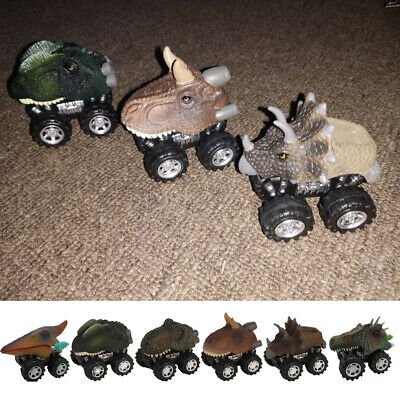 Pull Back Dinosaur Animals Cars Toys With Big Tire Wheel Toddler Children Gifts