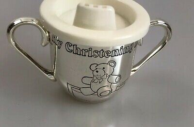 New My Christening Day Babies Beaker Cup Can Be Engraved With Name Church Date