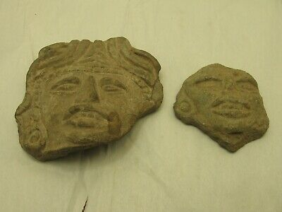 Two Aztec Head Fragments Found at Monte Alban in 1957