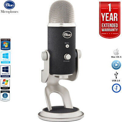 Blue Microphones Yeti Pro USB Condenser Microphone with 1 Year Extended Warranty