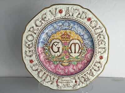 """Rare King George and Queen Mary PARAGON China Ltd Ed Coronation Plate 10.5"""""""