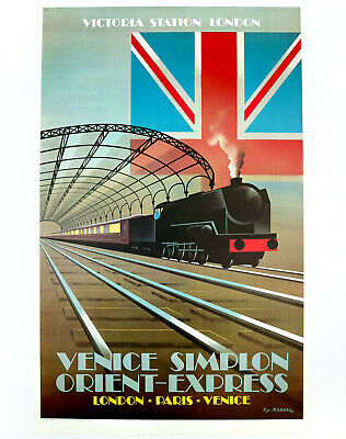 VENICE SIMPLON ORIENT-EXPRESS Original Travel Poster, Pierre Fix-Masseau 1981