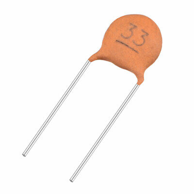 Pack of 40 Brick Red uxcell Ceramic Capacitor Kit 50V 1000PF Disc Capacitors for DIY Electronic Circuit