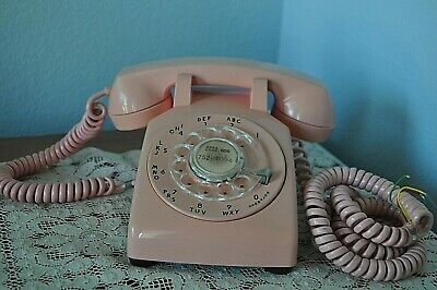 Vintage 1965 Rotary Telephone Pink Model 500 Bell System Western Electric