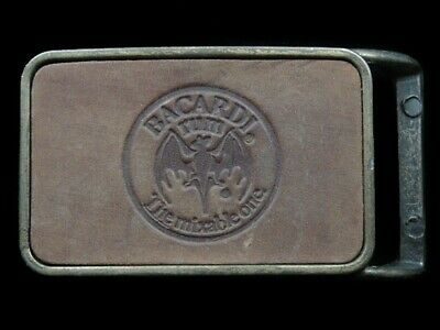 RL01114 VINTAGE 1970s *BACARDI THE MIXABLE ONE* BOOZE ADVERTISEMENT BELT BUCKLE