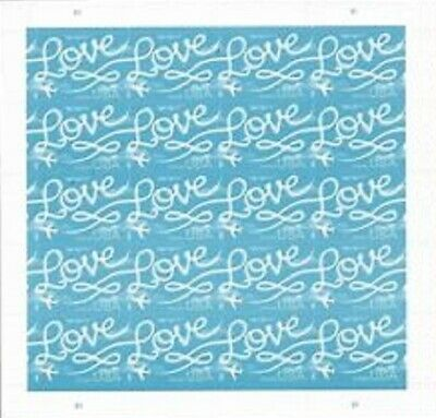 Full Sheet (20) Forever Love Skywriting USA USPS Postage Stamps w/FREE Shipping!