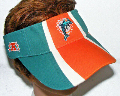 fe29431c MIAMI CAP DOLPHINS Reebok NFL Official Sideline Visor Hat Orange Green  College