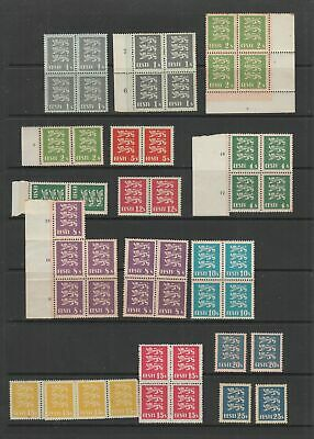Estonia 1928 - 1935 Arms issue MNH Blocks, single stamps , some toning