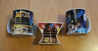 'doctor Who' 2 Mugs And Double Egg Cup. New.