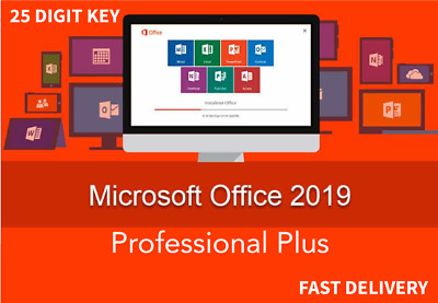 Microsoft Office Pro Plus 2019 - (32/64)Bit Genuine License Key for PC