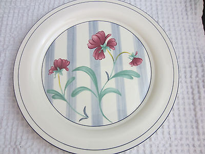 "Lenox Chinastone Poppies on Blue Botanical 10 5/8"" dinner plate"