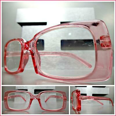 CLASSIC Vintage RETRO Style READING EYE GLASSES READERS Pink Rectangular Frame