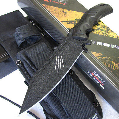 "MTech Xtreme RAPTOR 11 1/4"" Full Tang Bowie Combat Hunting KNIFE w/ Molle Sheath"