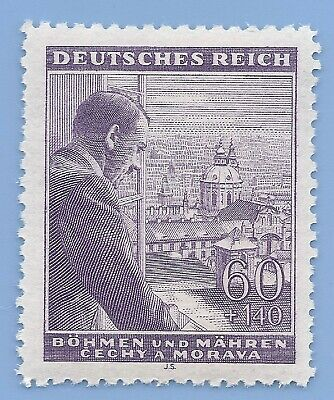Nazi Germany Third Reich Nazi B&M Hitler 60+140 stamp MNH WW2 ERA #7