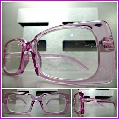 CLASSIC Vintage RETRO Style READING EYE GLASSES READERS Purple Rectangular Frame
