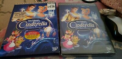 Disney Cinderella DVD with Slipcover - Platinum 2-Disc Special Edition 2005 MINT