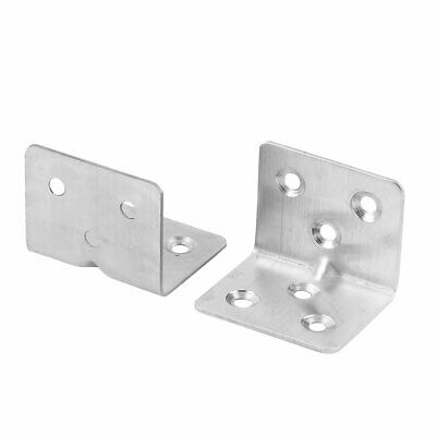 Home Stainless Steel Closet Shelf Cover Corner Guard Right Angle Bracket 2 Pcs