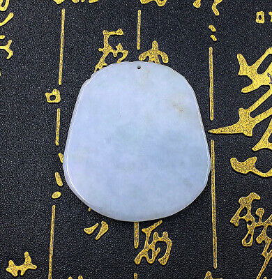 Pendant Gourd Jadeite By Hand Carving Natural Certified Jade Relief Sculpture