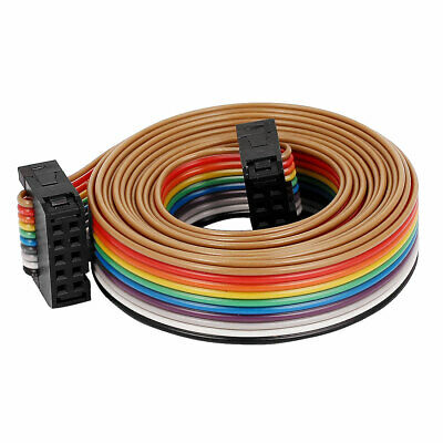 69bba29a61ea 2.54mm Pitch 10Pin 10 Way F F Connector IDC Flat Rainbow Ribbon Cable Wire