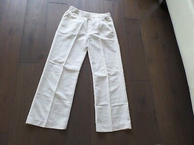 New MOTHER  The Quickie Greaser cream color pants w/ elastic band sz S, USA made