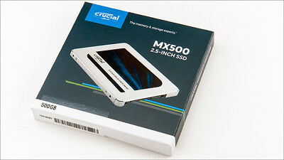 "Crucial MX500 500GB 2.5"" Internal Solid State Drive SSD SATA CT500MX500SSD1"