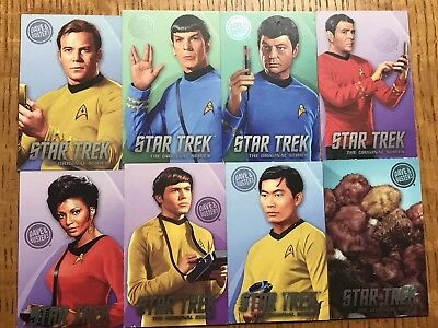 Dave & Busters Star Trek TOS 8 Card Complete Set inc. Tribbles