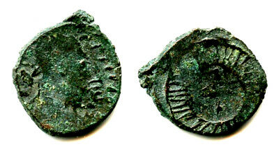 "Rare! Imitation of late Roman ""cross"" AE4, Sri Lanka, 400's AD"
