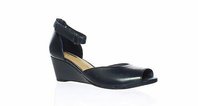 e1f4cebf79d Clarks Womens Flores Raye Navy Leather Ankle Strap Heels Size 7 (211756)