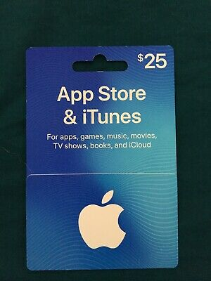 $25 iTunes Physical Gift Card New Apple iTunes Music