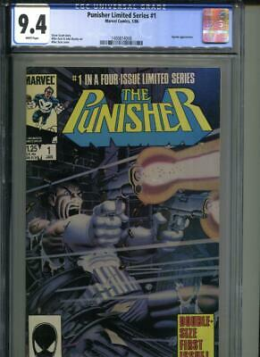 Punisher Limited Series #1 CGC 9.4 WHITE Pages Mike Zeck Marvel Comics NM