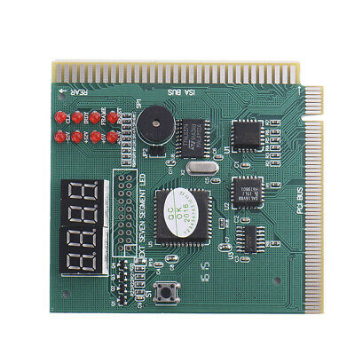 Green Diagnostic Card 4-Digit ISA Laptop Analyzer Motherboard PCI Replacement