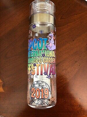 Disney 2019 Epcot Flower and Garden Figment Your Imagination Water Bottle New