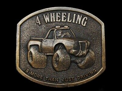 Nc27118 Vintage 1976 **4 Wheeling Is More Than Just Driving** Belt Buckle