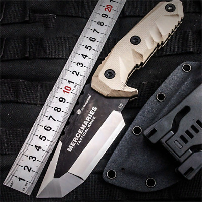 HX Outdoors Stainless Steel D2 Camp Hunting Army Survival Knife Tactical Blade