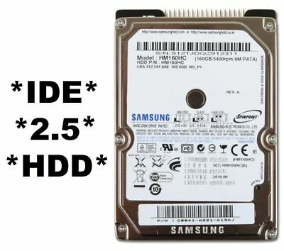 """160GB 2.5"""" PATA IDE laptop notebook HDD Hard Disk Drive"""